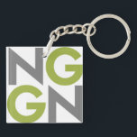 "NGGN Keychain<br><div class=""desc"">Simple and straight to the point,  this NGGN keychain will hold your keys and tell the world #IAmNextGen.</div>"