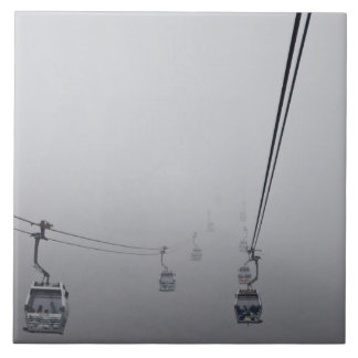 Ngong Ping Cable Car in thick fog Ceramic Tile