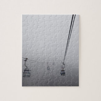 Ngong Ping Cable Car in thick fog Jigsaw Puzzles