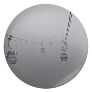 Ngong Ping Cable Car in thick fog Melamine Plate