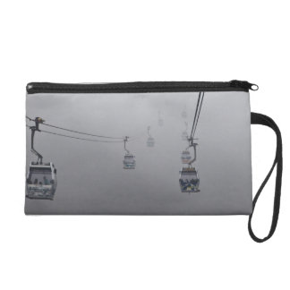 Ngong Ping Cable Car in thick fog Wristlet Purse