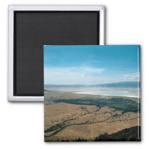 Ngorongoro Crater 2 Inch Square Magnet