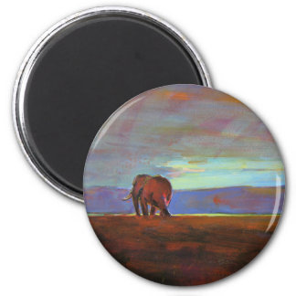 'Ngorongoro  Sunset' 2 Inch Round Magnet