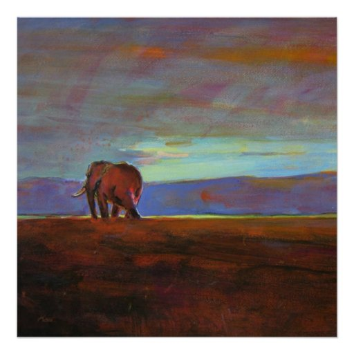 Ngorongoro Sunset collosal  print