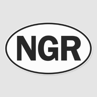 NGR Oval Identity Sign Oval Sticker