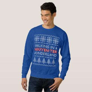 Nguyen-ter Wonderland Knit-look Christmas Sweater