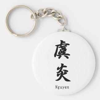Nguyen tradujo a símbolos japoneses del kanji llavero personalizado