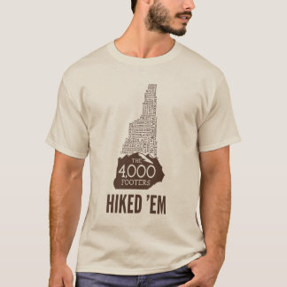 NH 4000 Footers Hiked T-Shirt (Brown Logo)