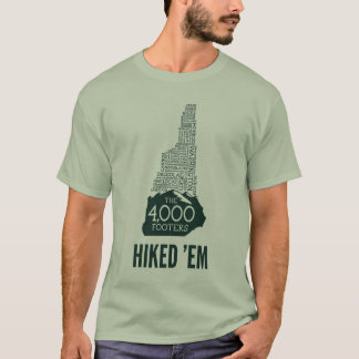 NH 4000 Footers Hiked T-Shirt (Green Logo)