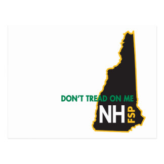 NH Don't Tread on Me Postcard