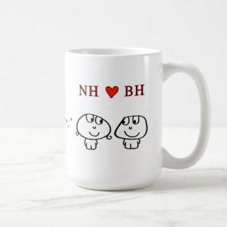"""NH (girl) heart BH (boy)"" Coffee Mug"