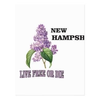 NH live free or die Postcard
