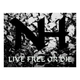 NH - Live Free or Die Poster