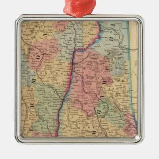 NH, mapa de Vermont de Mitchell Ornamentos De Reyes