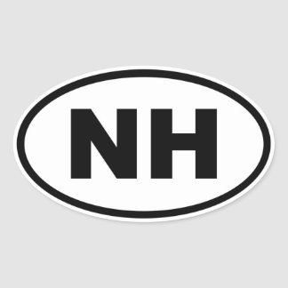 NH New Hampshire Oval Sticker