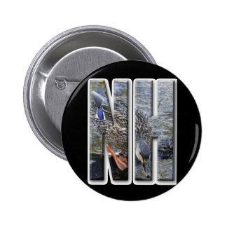 NH NEW HAMPSHIRE PIN REDONDO DE 2 PULGADAS