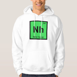 Nh - New Haven Connecticut Chemistry City Symbol Hoodie