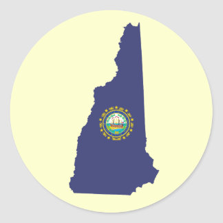 NH State Flag Classic Round Sticker