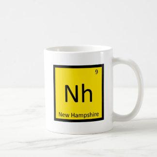Nh - Tabla periódica de la química del estado de Taza De Café