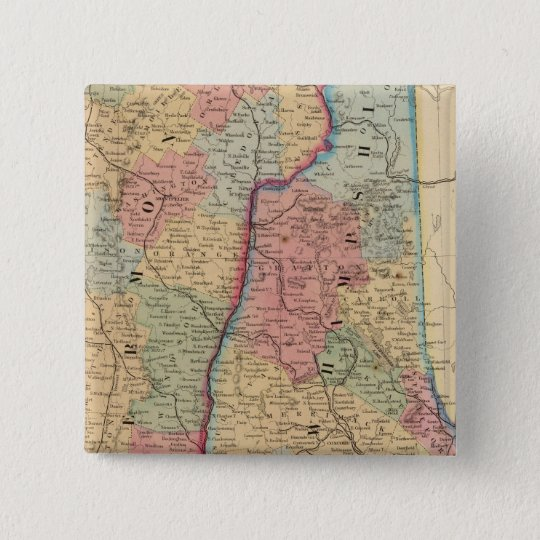 NH, Vermont Map by Mitchell Button