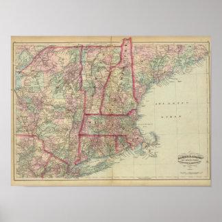NH, Vt, Mass, RI, Conn Poster