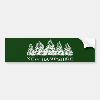 NH Winter Evergreens Bumper Sticker
