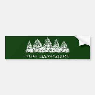 NH Winter Evergreens Car Bumper Sticker