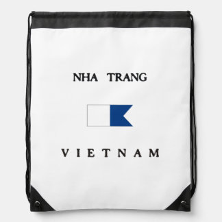 Nha Trang Vietnam Alpha Dive Flag Drawstring Bag