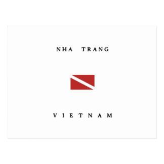 Nha Trang Vietnam Scuba Dive Flag Postcard