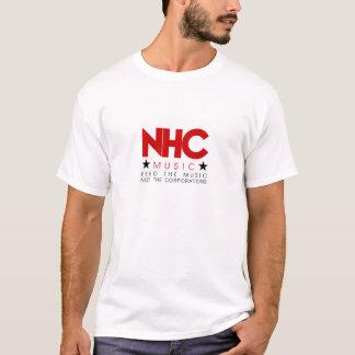NHC RED BRANDED PLAIN WHITE T-SHIRT