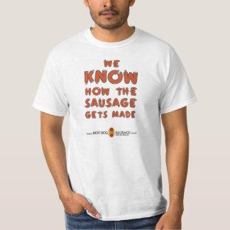 """NHDSC """"sabemos la salchicha consigue"""" la camiseta Poleras"""