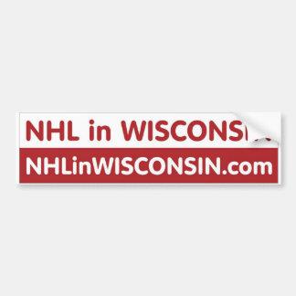 NHL en Wisconsin Pegatina Para Auto
