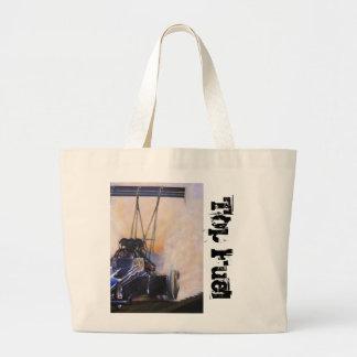 nhra dragster top fuel tote bag