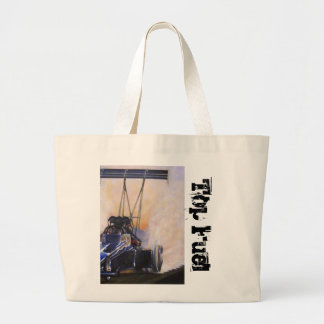 nhra dragster top fuel large tote bag