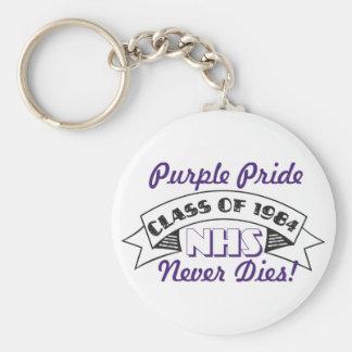 NHS Class of 1984 Purple Pride Key Chain
