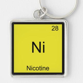 Ni - Camiseta divertida del elemento de la química Llavero Personalizado