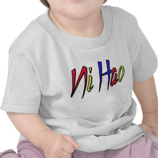 Ni Hao - chino para hola Camisetas
