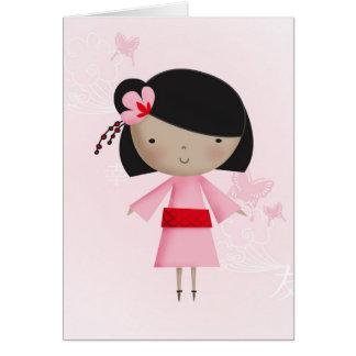 Ni Hao Little Chinese Girl Greeting Card