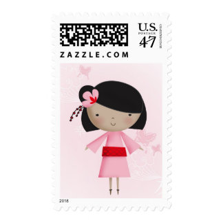 Ni Hao Little Chinese Girl Stamp
