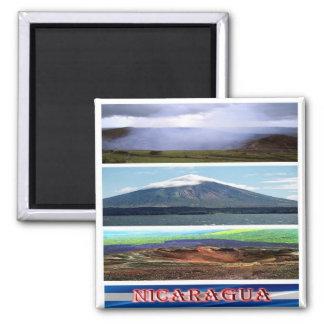 NI - Nicaragua - Volcano Mosaic Collage Magnet