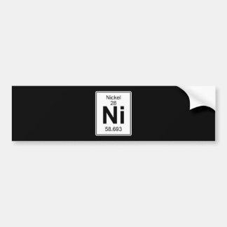 Ni - Nickel Bumper Sticker