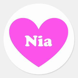 Nia Classic Round Sticker