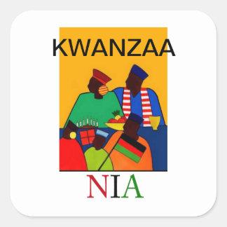 NIA Kwanzaa Holiday Stickers