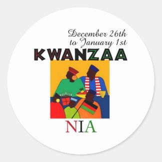 NIA - Purpose Classic Round Sticker