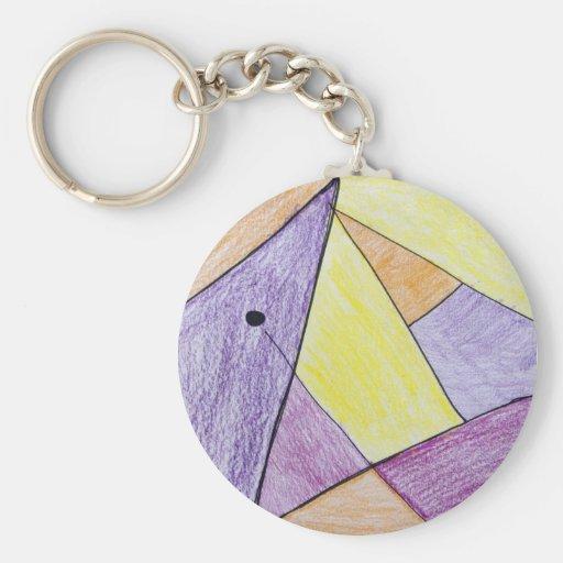 Nia Rattanaphosy Basic Round Button Keychain