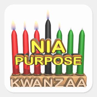 Nia Square Sticker