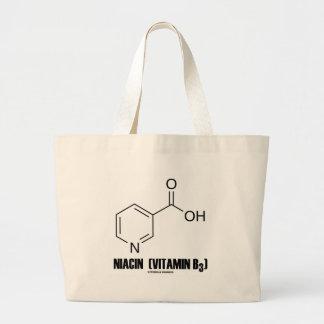 Niacin (Vitamin B3) Chemical Molecule Tote Bags