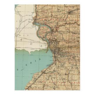 Niagara and Erie counties Postcard