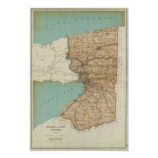 Niagara and Erie counties Poster