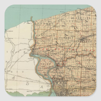 Niagara and Erie counties Square Sticker